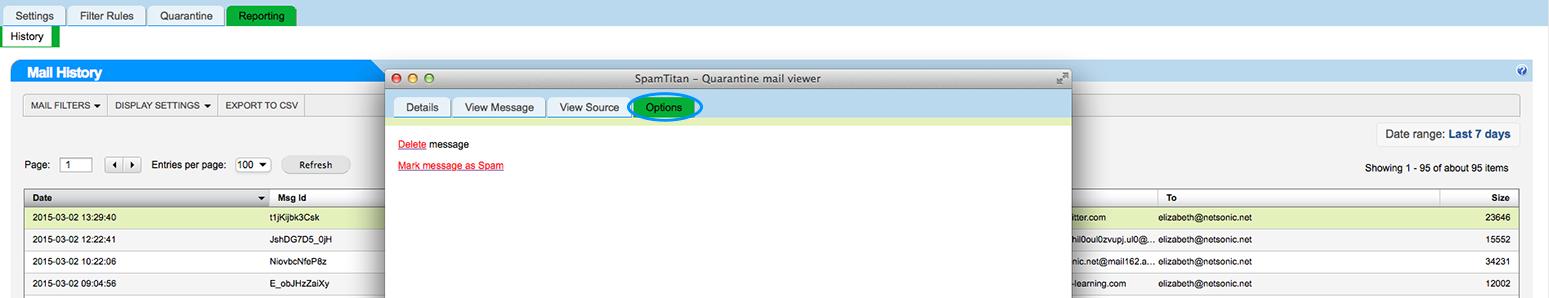 marking spam
